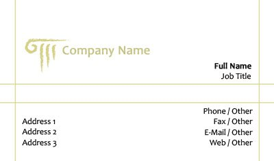 White and Gold Column Business Card Template